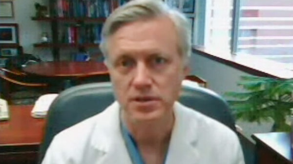 Dr. Scott Adzick of The Children's Hospital of Pennsylvania is seen in this undated video image.