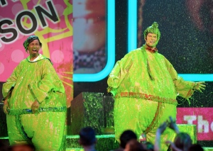 Celebrities get drenched in green slime for a night of fun and celebration at the annual Kids&#39; Choice Awards. <br><br>