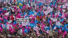 Anti gay marriage protesters demonstrate in Paris