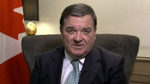 Finance Minister Jim Flaherty appears on CTV's Question Period on Sunday, March 24, 2013.