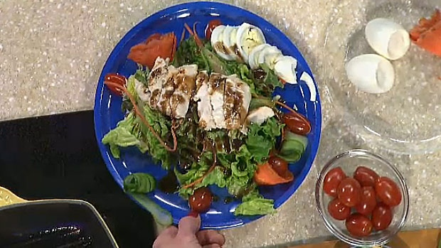 Barbara Lockert's Spring Salad with Balsamic Vinaigrette.