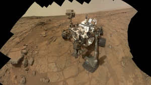 An undated file image released by NASA shows a self-portrait of NASA's Mars rover Curiosity. (NASA)
