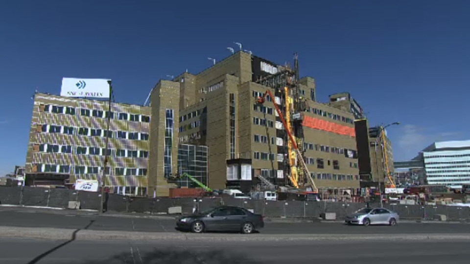 The McGill University superhospital is under construction (March 26, 2013)