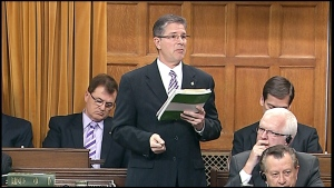 Conservative MP Mark Warawa speaks during question period in the House of Commons on Parliament Hill in Ottawa, Tuesday, March 26, 2013.