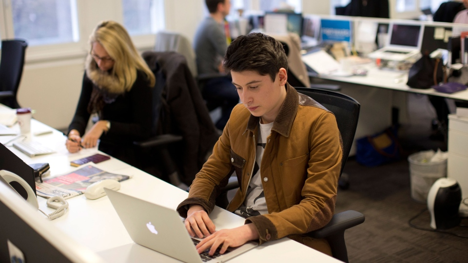Nick d'Aloisio poses for photographs after being interviewed by The Associated Press in London, Tuesday, March 26, 2013. (AP / Matt Dunham)