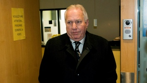 Bernard Trepanier, the financing head for Union Montreal until 2006, leaves for lunch before testifying at the Charbonneau inquiry looking into corruption in the Quebec construction industry in Montreal, Tuesday, March 26, 2013. (Ryan Remiorz/THE CANADIAN PRESS)