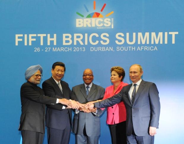 BRICS leaders on March 27, 2013.