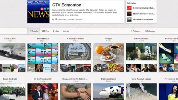 CTV Edmonton Pinterest