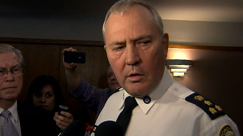 Toronto Police Chief Bill Blair speaks to the media, Wednesday, March 27, 2013.