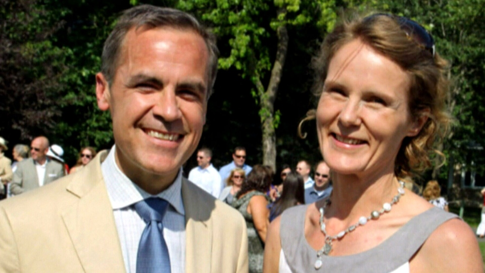 Mark Carney's wife, Diana, has come under fire for a tweet about finding a London home.