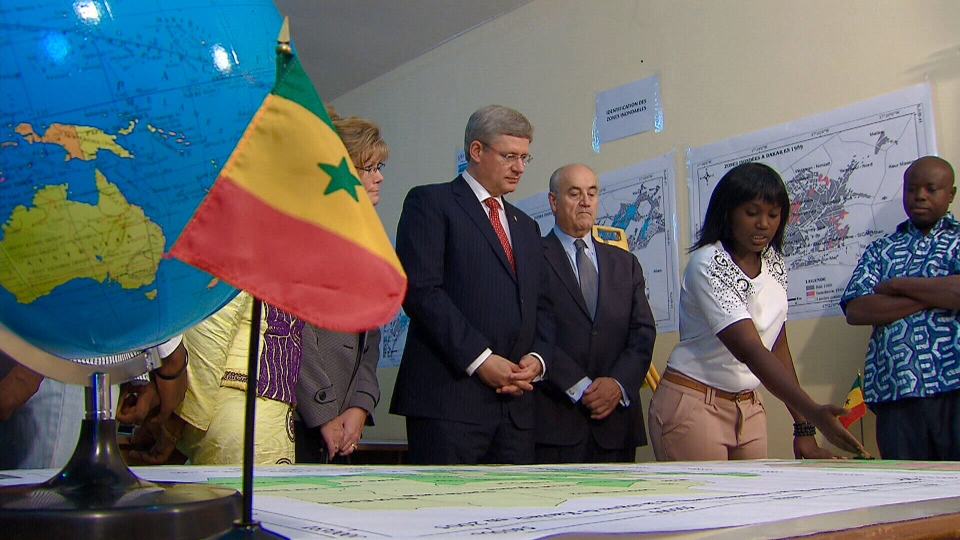 Prime Minister Stephen Harper in Dakar, Senegal, Oct. 11, 2012.
