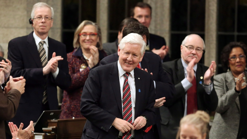 Interim Liberal Leader Bob Rae stands in the House of Commons as he is given a standing ovation during Question Period, in Ottawa , Wednesday, March 27, 2013. (Fred Chartrand / THE CANADIAN PRESS)