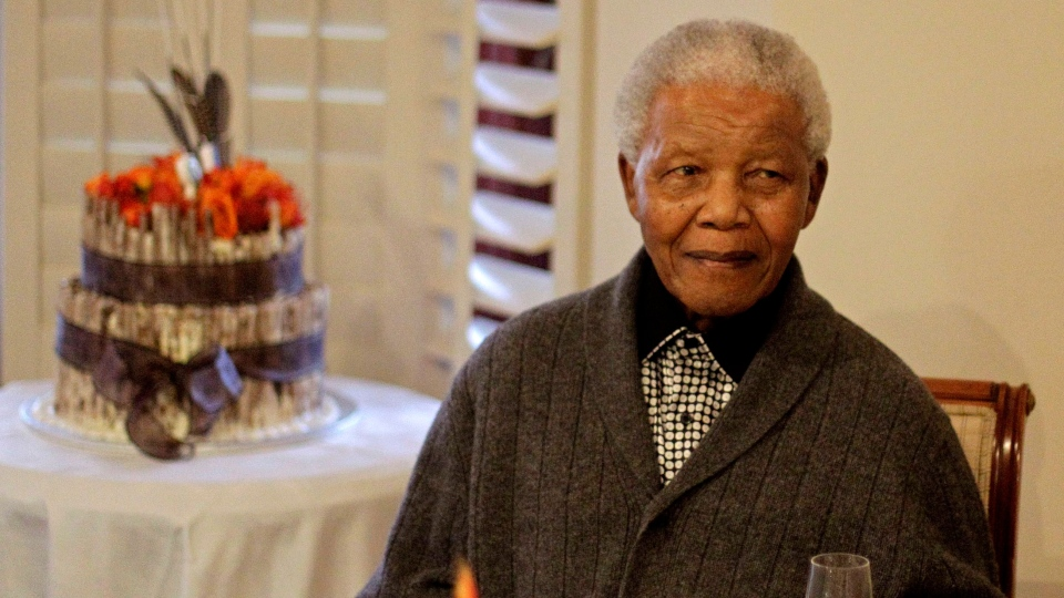 Former South African President Nelson Mandela celebrates his birthday with family in Qunu, South Africa, Wednesday, July 18, 2012. (AP / Schalk van Zuydam)
