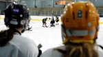 Students from John McCrea Secondary School play hockey at the Walter Baker Sports Centre in Ottawa on Thursday, Jan. 19, 2012. (Sean Kilpatrick / THE CANADIAN PRESS)