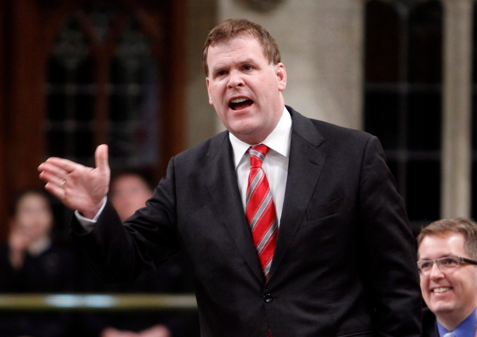Foreign Affairs Minister John Baird stands in the House of Commons during question period in Ottawa, Friday, March 22, 2013. (Fred Chartrand / THE CANADIAN PRESS)