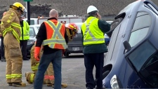 CTV Montreal: Sinkhole damages two cars