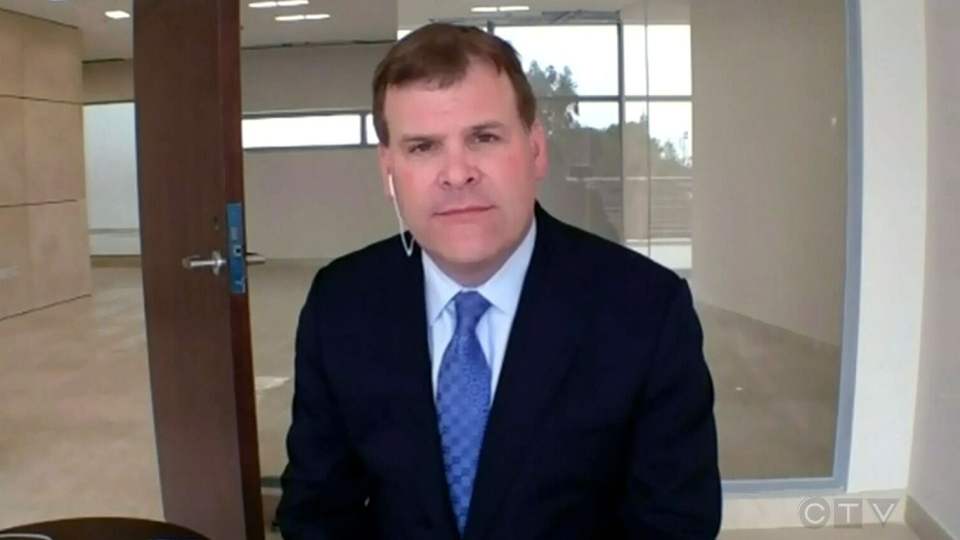 Foreign Affairs Minister John Baird appears on CTV's Question Period from Amman, Jordan, Sunday, March 31, 2013.