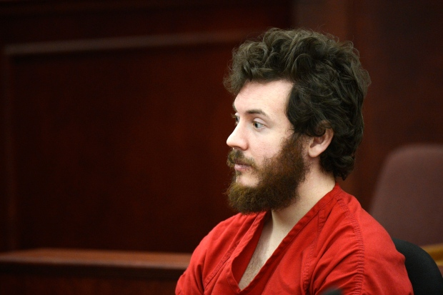 James Holmes in a Centennial, Colo. courtroom, March 12, 2013. (Denver Post / RJ Sangosti)