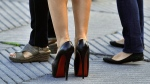 The high heels of Italian actress Monica Bellucci are seen in this photo in San Sebastian northern Spain, Thursday Sept. 27, 2012. (AP / Alvaro Barrientos)