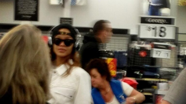 Rihanna spotted at B.C. Wal-Mart