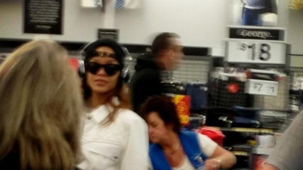 Rihanna spotted at B.C. Wal-Mart