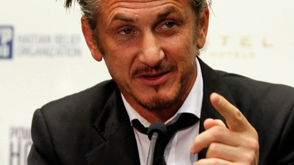 U.S. actor Sean Penn attends a news conference about the Haiti fund raising gala in Vienna, Austria, on Tuesday Feb. 15, 2011. (AP / Ronald Zak)
