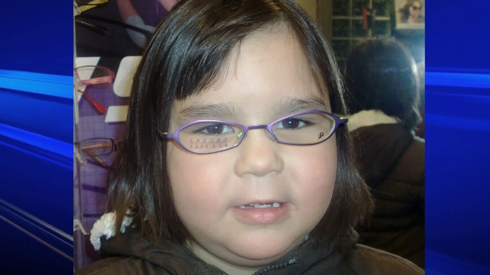 Samara, 9, was rescued after falling through ice on the North Saskatchewan River on Sunday, March 31, 2013.