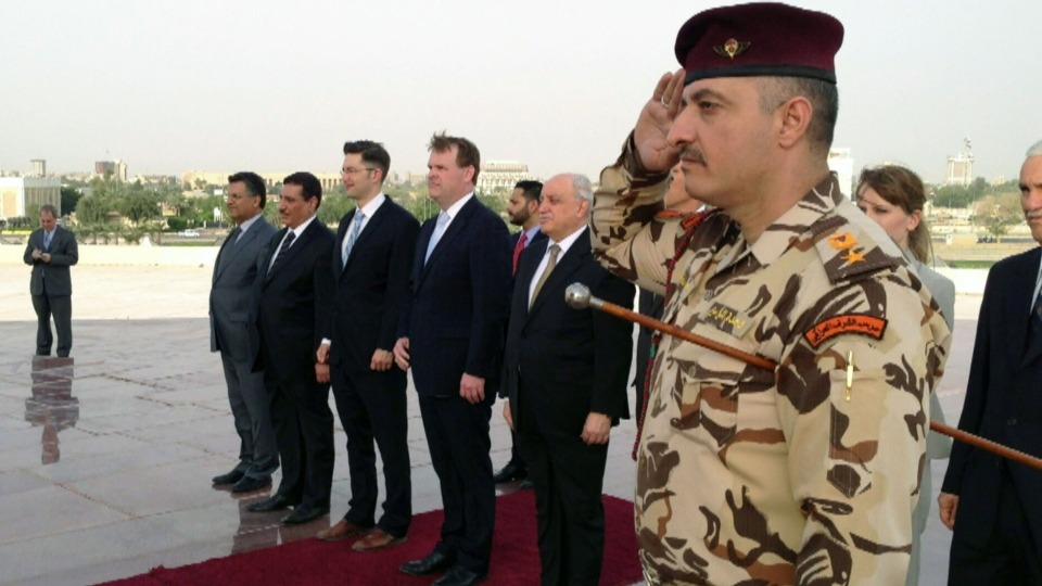 Foreign Affairs Minister John Baird in Baghdad