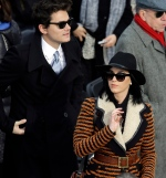 John Mayer and Katy Perry arrives for the ceremonial swearing-in of President Barack Obama at the U.S. Capitol during the 57th Presidential Inauguration in Washington, Monday, Jan. 21, 2013. (AP / Carolyn Kaster)