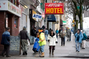 People walk in the downtown eastside area of Vancouver, B.C., on Sunday, December, 23, 2012. THE CANADIAN PRESS/Jonathan Hayward