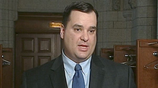 James Moore, the minister of Canadian heritage and official languages, speaks at a press conference in Ottawa, Wednesday, Feb. 16, 2011.
