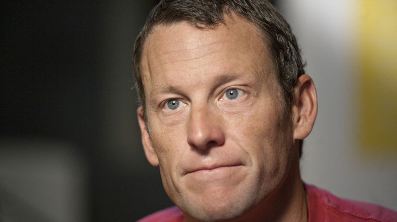 Lance Armstrong speaks during an interview in Austin, Texas, Tuesday, Feb. 15, 2011. (AP / Thao Nguyen)
