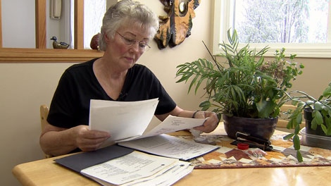 Florence Smith's breast cancer was missed in a mammogram at St. Joseph's Hospital in Comox. Feb. 16, 2011. (CTV)