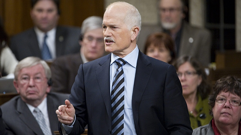 New Democratic leader Jack Layton asks a question during question period in the House of Commons on Parliament Hill in Ottawa Wednesday Feb. 16, 2011. (Sean Kilpatrick / THE CANADIAN PRESS)