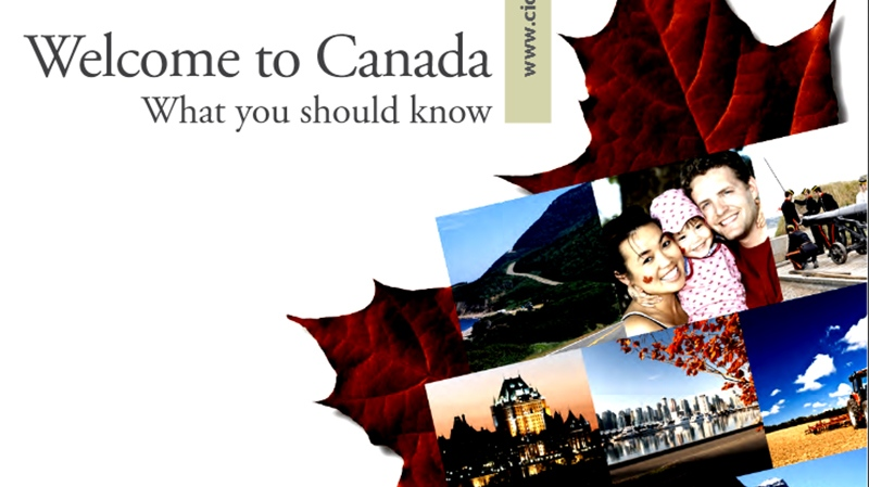 Portion of the Welcome to Canada guide cover released on April 3, 2013.