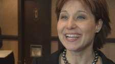 Christy Clark responds to news that no evidence against her was obtained during the BC Rail investigation. Feb. 16, 2011. (CTV)