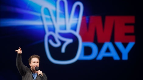 Craig Kielburger, founder of the charity Free the Children, speaks at the charity's We Day celebrations in Kitchener, Ont., Thursday, Feb. 17, 2011. (THE CANADIAN PRESS/Geoff Robins)