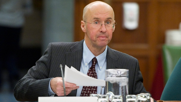 Parliamentary budget officer Kevin Page appears at Commons public safety committee on the expansion of prisons on Parliament Hill in Ottawa, Thursday, Feb. 17, 2011. (Sean Kilpatrick / THE CANADIAN PRESS)
