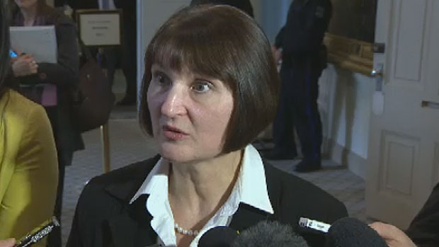 Nova Scotia Education Minister Ramona Jennex speaks with reporters on April 3, 2013. (CTV Atlantic)