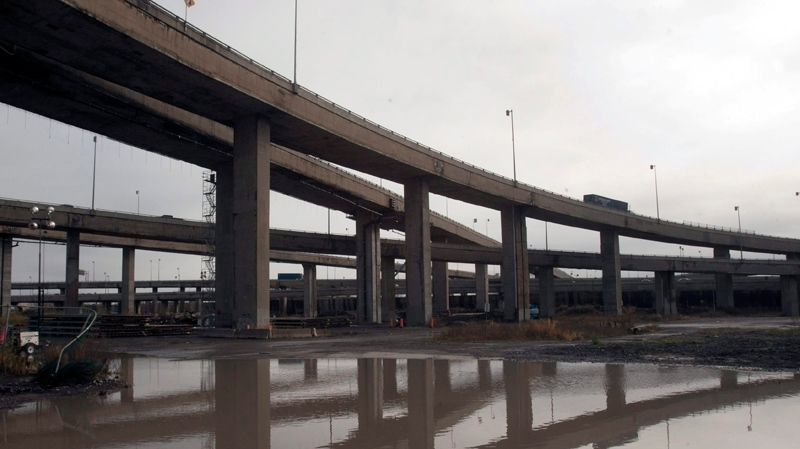 Work has stopped on two Turcot Interchange ramps