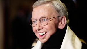 Film critic and author Roger Ebert, recipient of the Honorary Life Member Award, appears at the Directors Guild of America Awards in Los Angeles, Jan. 2009. (AP / Matt Sayles)