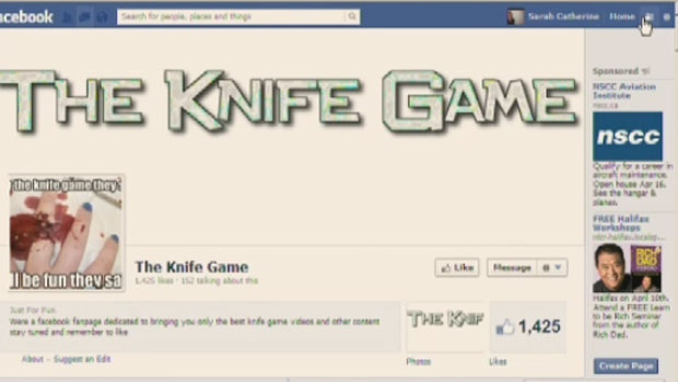 Concerns are being raised about a controversial knife game after a local teen posted a video of herself playing it online. (CTV Atlantic)