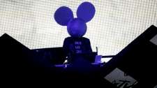 Deadmau5 performs at the MTV Video Music Awards on Sunday, Sept. 12, 2010. (AP / Matt Sayles)