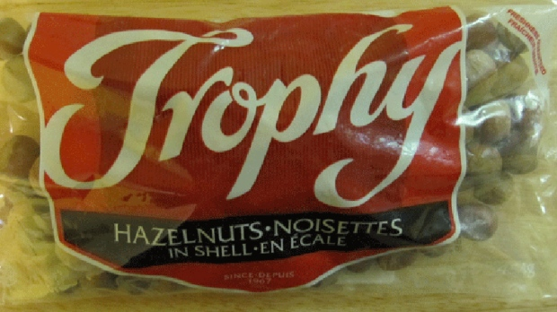Trophy brand Hazelnuts In Shell (CFIA/HO)