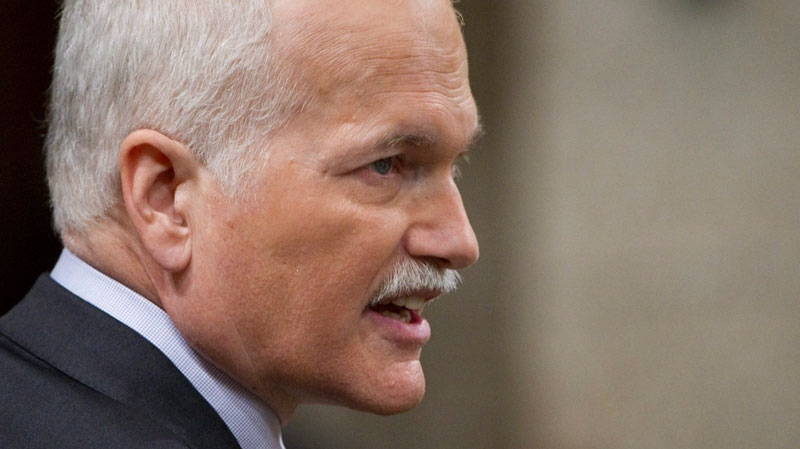 NDP Leader Jack Layton asks a question during question period in the House of Commons on Parliament Hill in Ottawa Tuesday Feb. 15, 2011. (Sean Kilpatrick / THE CANADIAN PRESS)