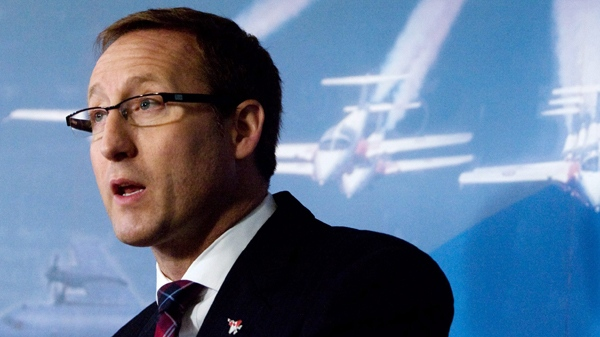 Minister of National Defence Peter MacKay makes an announcement at the Officers' Mess at CFB Trenton on Friday, Feb. 18, 2011. National Defence plans to open five more support centres to help injured soldiers and their families. (Lars Hagberg / THE CANADIAN PRESS)