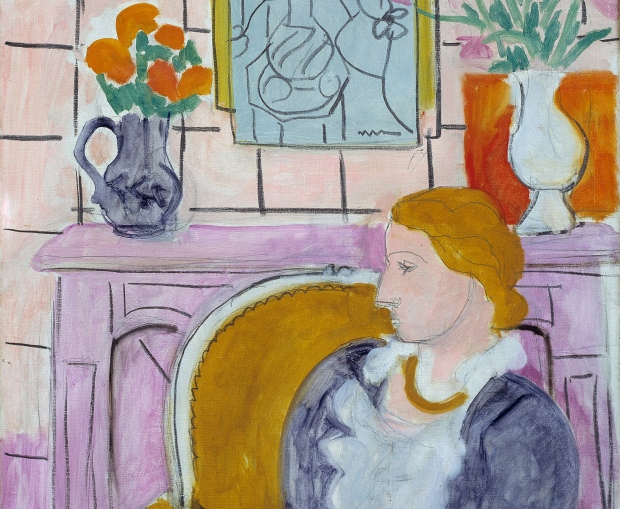 """Matisse's 'Blue Dress in a Yellow Arm Chair"""""""