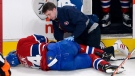 Former Montreal Canadiens defenseman Alexei Emelin like almost all his fellow NHLers need the care of a trainer or doctor at some time in their career. THE CANADIAN PRESS/Ryan Remiorz