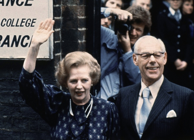 Margaret Thatcher and her husband