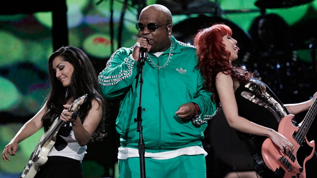 Cee Lo Green performs at the NBA basketball All-Star Saturday Night, Saturday, Feb. 19, 2011, in Los Angeles. (AP / Jae C. Hong)